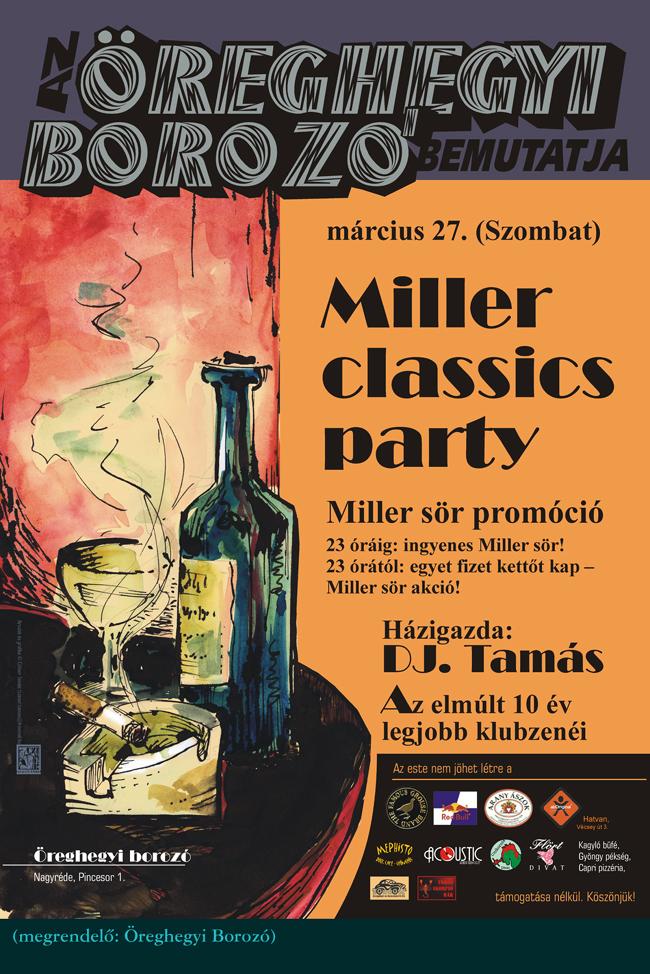 Miller classics party plakát